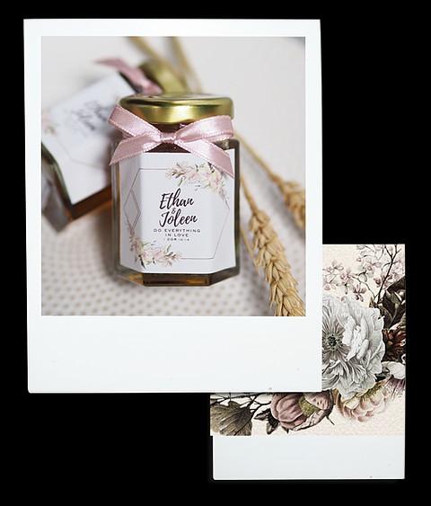 A Love Knot Honey Jars