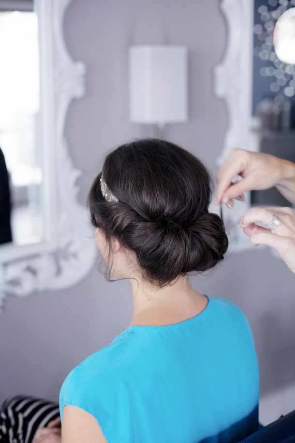 Wedding Hairstyles - Banded Chignon