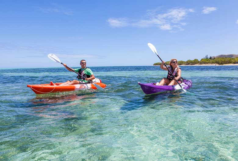New Caledonia Honeymoon - Kayaking in world's largets lagoon - New Caledonia Travel