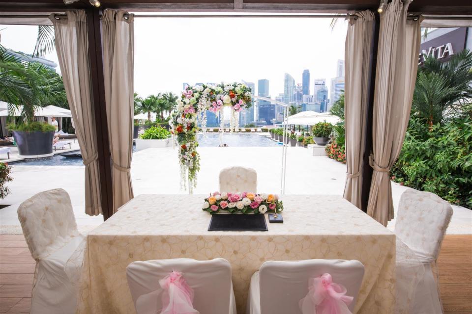 Mandarin Oriental Wedding Harbour Terrace