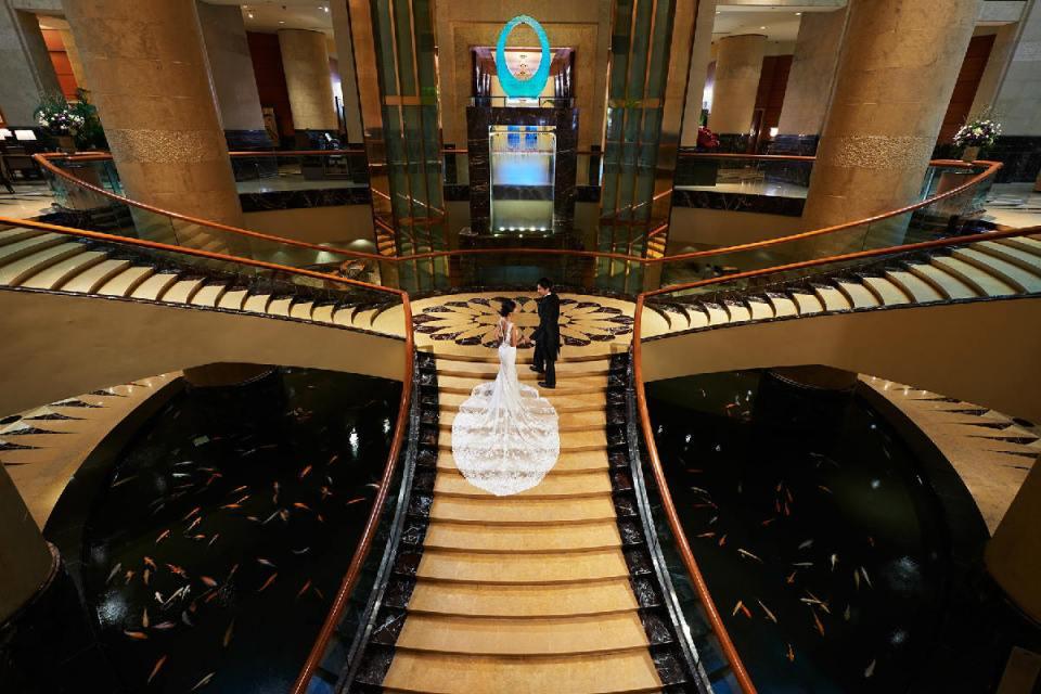 Fullerton Wedding - The Ballroom Staircase