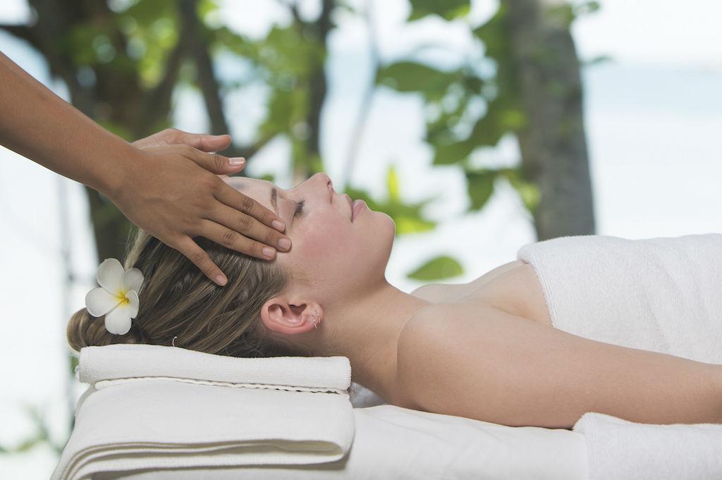 woman having massage on nikoi island