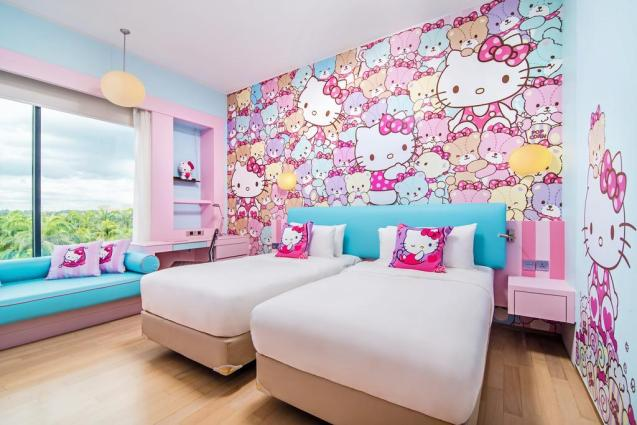Hotel Jen Puteri Harbour Hello Kitty Room_Pink