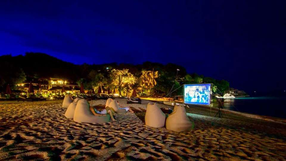 Tongsai Bay Koh Samui Honeymoon movie night