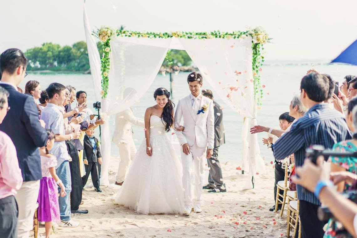 Sentosa Wedding Venues Singapore Tanjong Beach Club