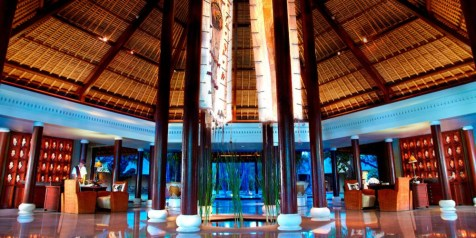 The Oberoi Lombok lobby