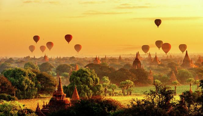 Bagan Sunrise Hot Air Balloons