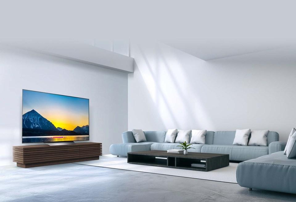 LG B8 OLED TV Living Room