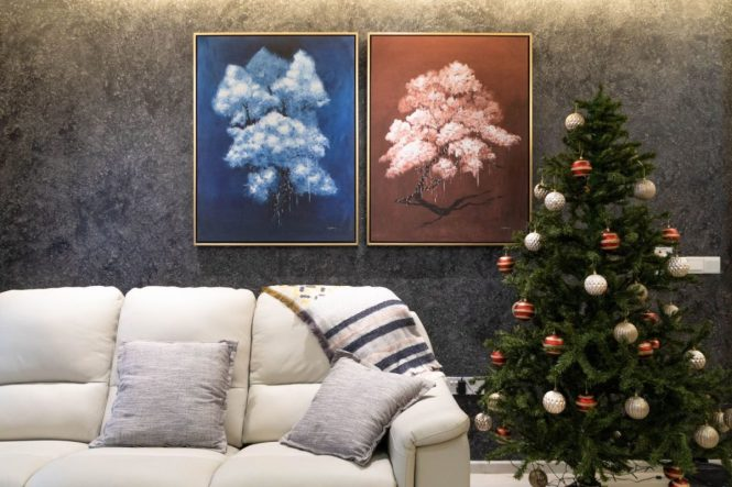 spotlight effect on art painting home