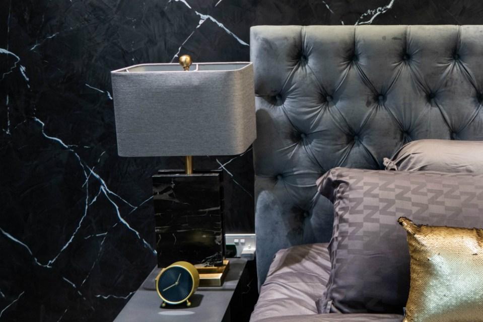 finn avenue black marble lamp