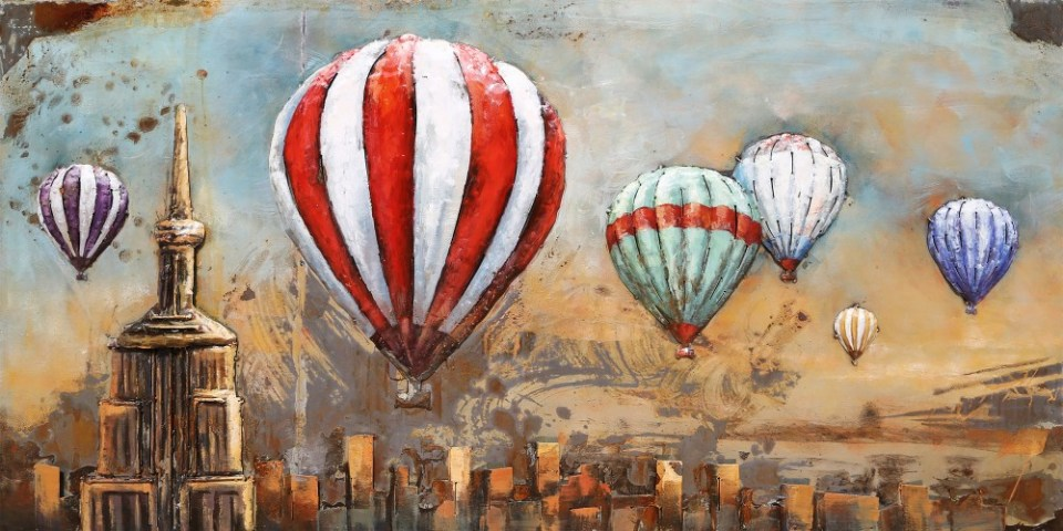 art painting singapore hot air balloon