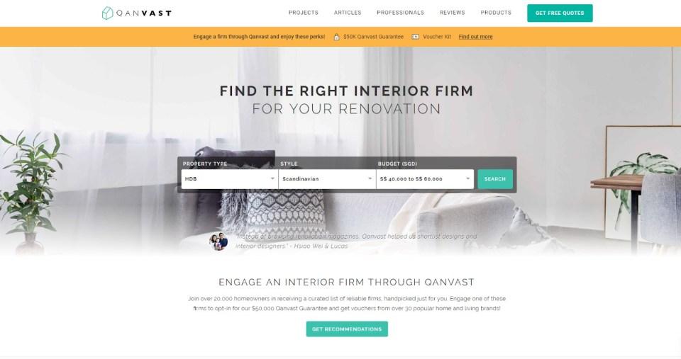 home renovation websites singapore qanvast