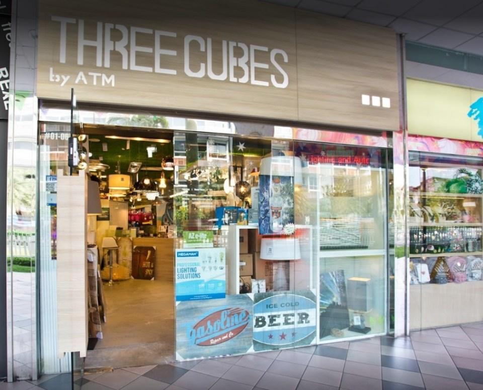 lighting shops singapore Three Cubes Singapore