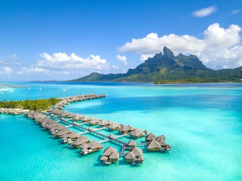 best honeymoon destination The St. Regis Bora Bora Resort
