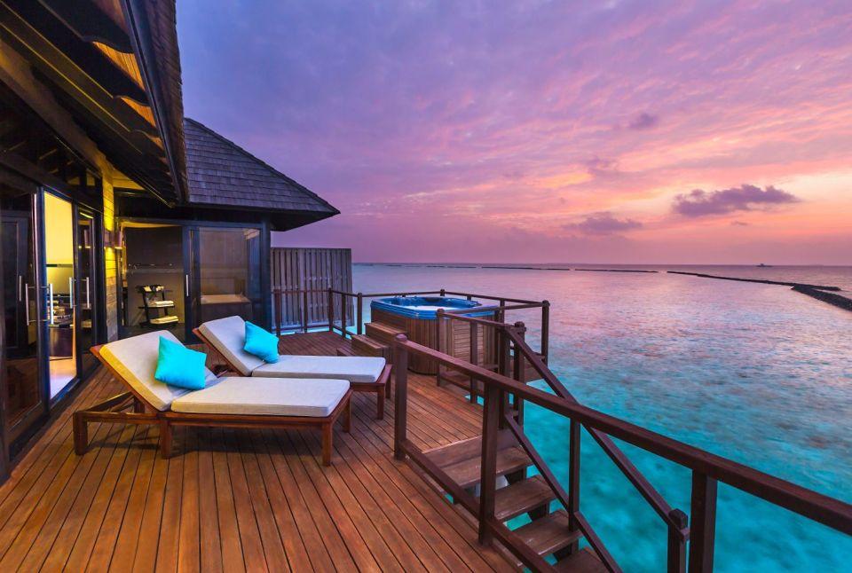 The Sun Siyam Iru Fushi horizon water villa