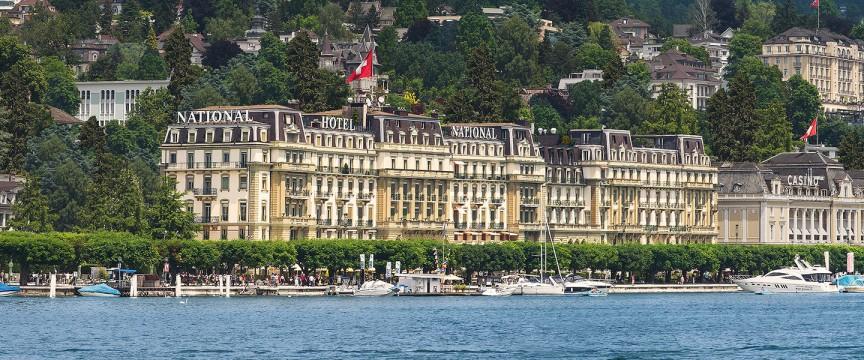 switzerland honeymoon Grand Hotel National Luzern