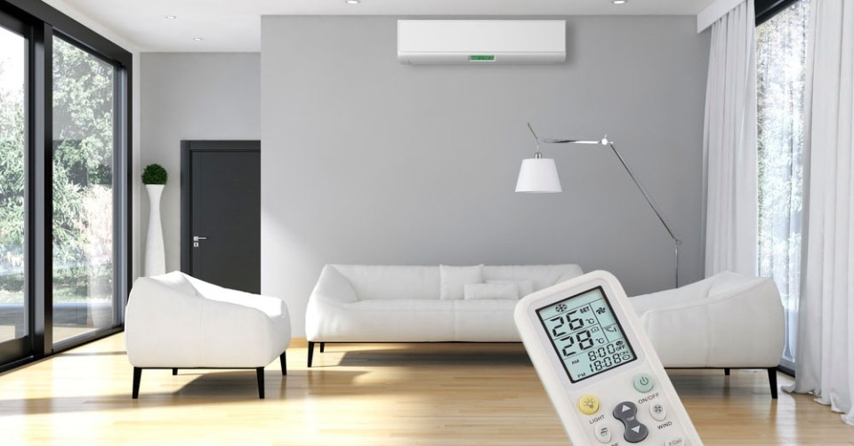 aircon singapore grey with remote controller