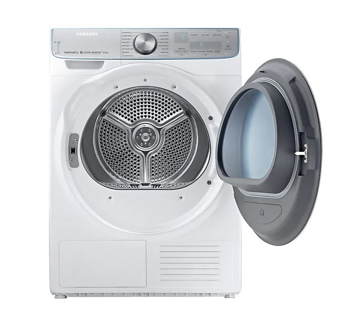 Samsung DV90N8289AW 9KG Heat Pump Dryer Singapore open cover