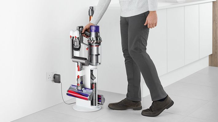storing charging vacuum