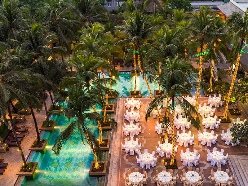 myanmar wedding venues poolside