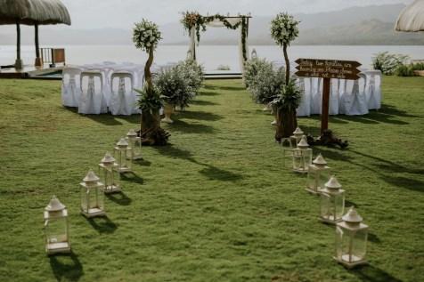 pure shores villa wedding set up