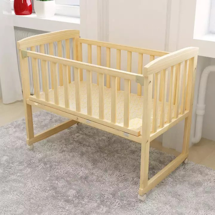 SOKANO HB501 Single Tier 3 in 1 Natural Paintless Nontoxic Easel Wooden Baby Cot Malaysia