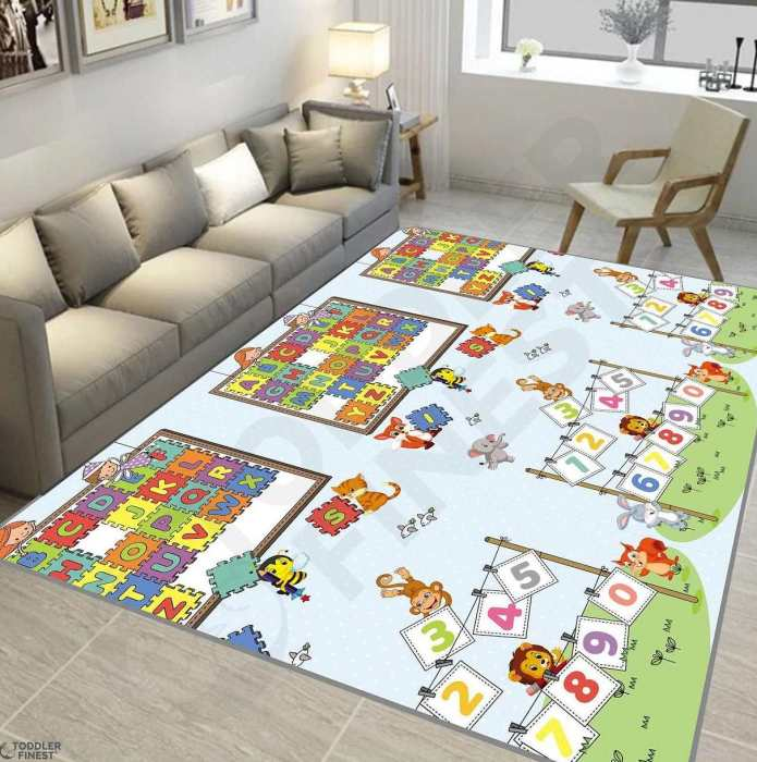 BioFinest Reversible Rolling Baby ABC Puzzle Play Mat