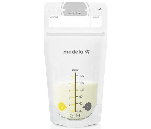 breastmilk storage singapore Medela Breast Milk Storage Bags (180ml : 6oz) x 50 pcs - Leakproof