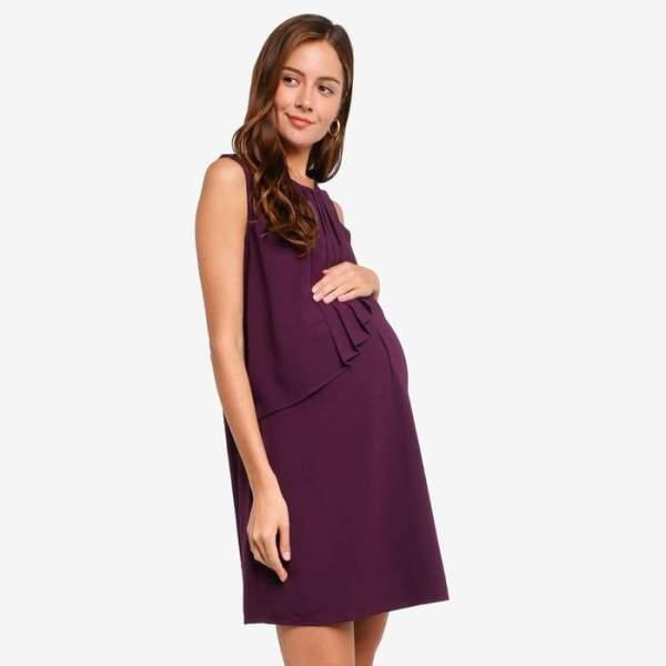maternity wear singapore_Maternity Cory Sleeveless Pleated Dress