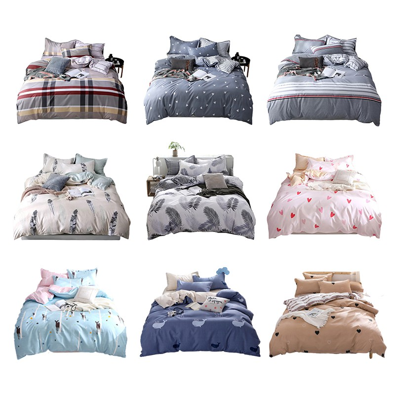4 in 1 fitted Bedding Set Bedcover Bedsheets singapore