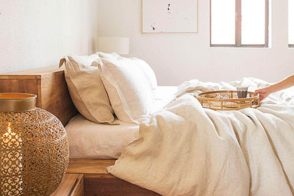 Heveya linen bedsheets