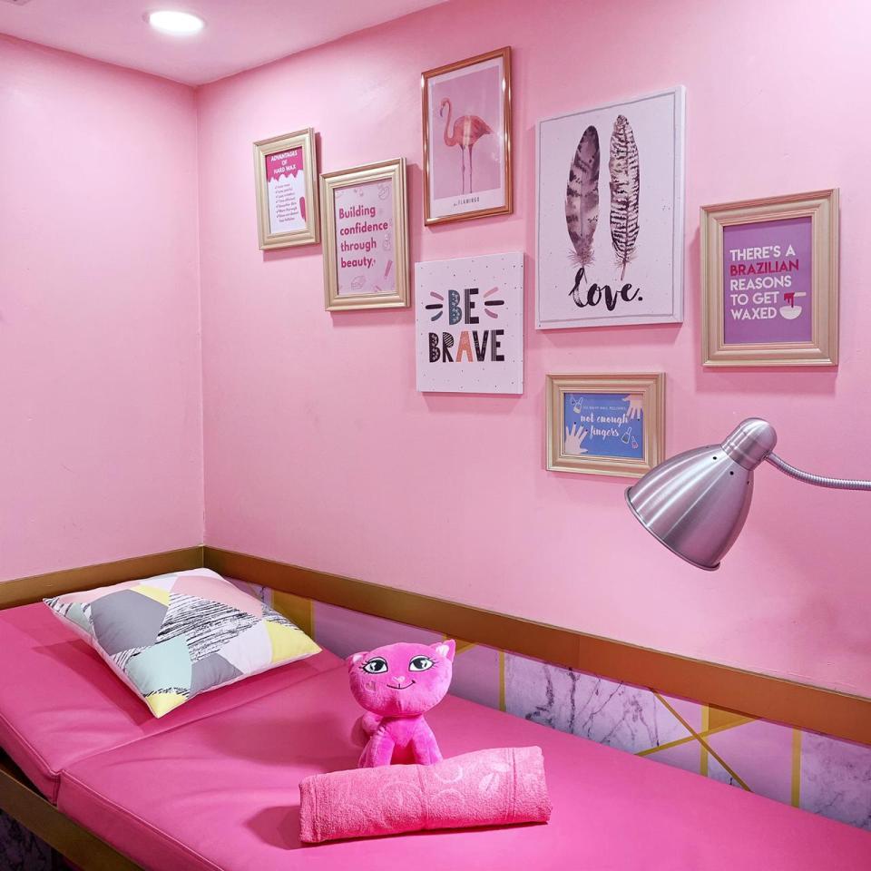 Lilin brazilian salon merah muda