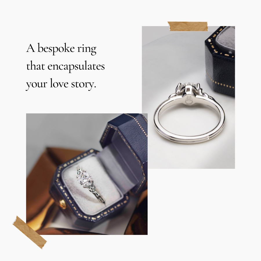 carrie k Bespoke rings that encapsulates your love story
