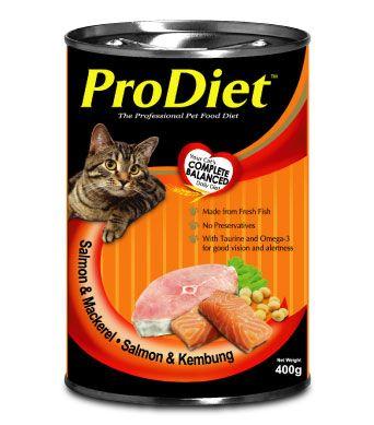 ProDiet Grilled Salmon & Mackerel Wet Cat Food Best cat foods Malaysia