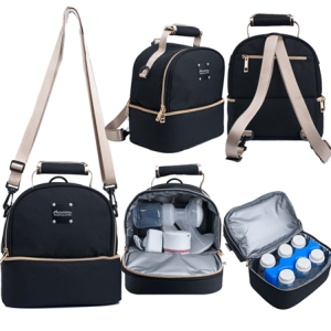 Autumnz Breastpump Travel Bag with Cooler Compartment