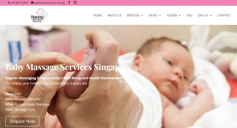 NannySOS Best Baby Massage Singapore