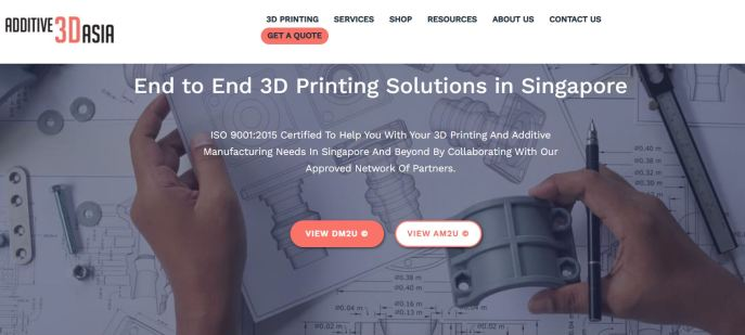 Best 3D Printers & Printing Service Singapore Additive 3D Asia