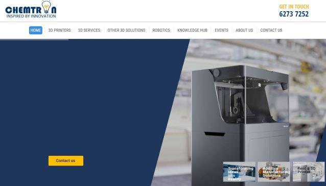 Best 3D Printers & Printing Service Singapore Chemtron
