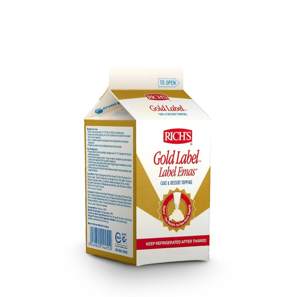 Whipped Cream Terbaik Gold Label Rich's