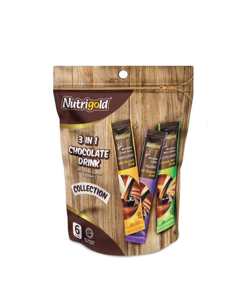 NUTRIGOLD Instant 3 in 1 Chocolate Drink Malaysia