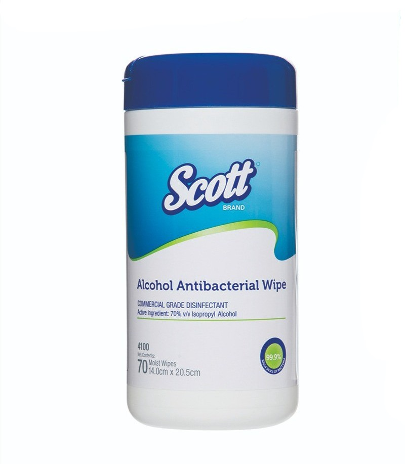 Scott Alcohol Antibacterial Wipes