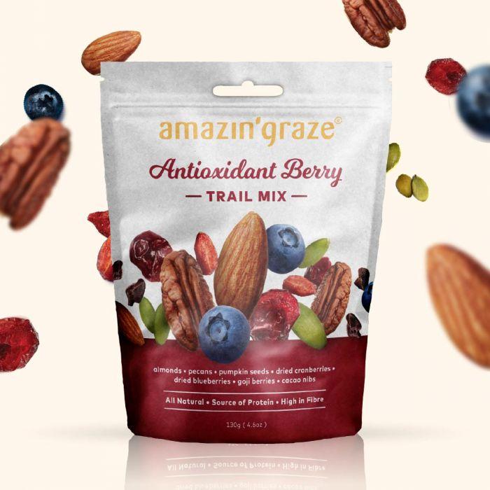 Amazin' Graze Healthy Antioxidant Berry Trail Mix Best Healthy Snacks Singapore