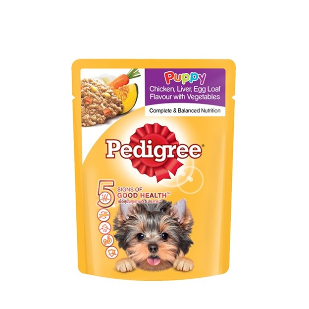 Pedigree Puppy Chicken, Liver, Egg Loaf with Vegetables Pouch dog foods philippines