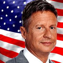 Gary Johnson US flag
