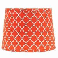 10 inch Orange Quatrefoil Drum Lamp Shade, by Raghu - The ...