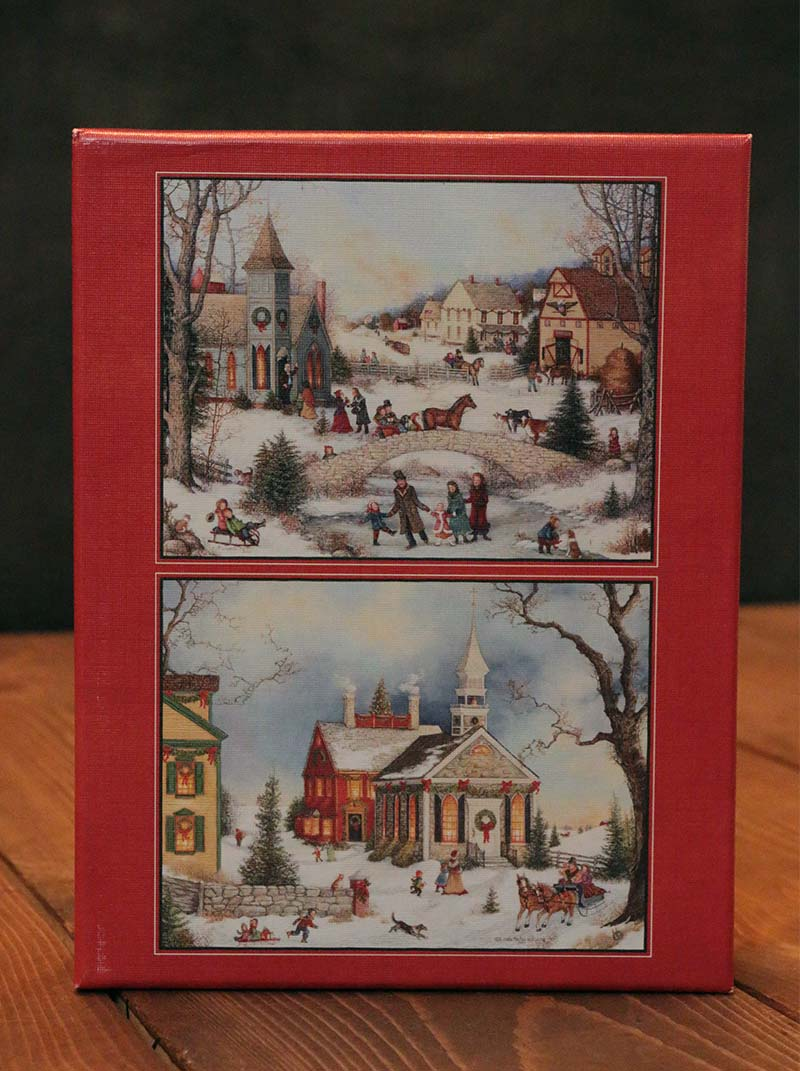 Folk Art Holiday Assorted Boxed Christmas Cards By Lang