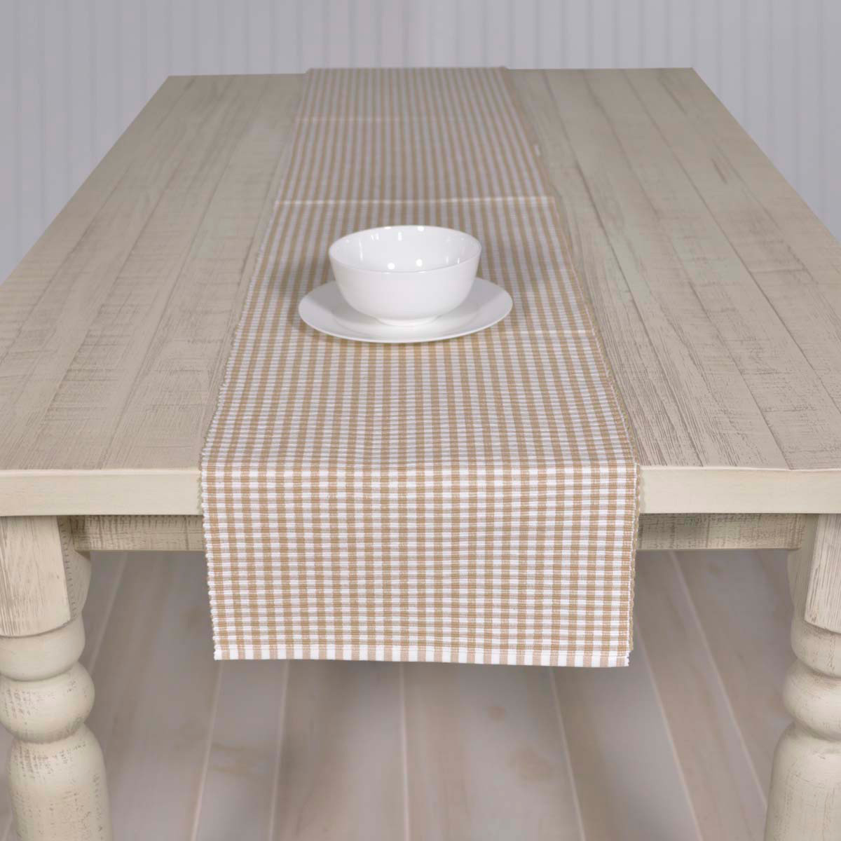 tara taupe 72 inch table runner the weed patch