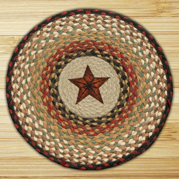 Star Braided Jute Chair Pad Capitol Earth Rugs. - Weed Patch