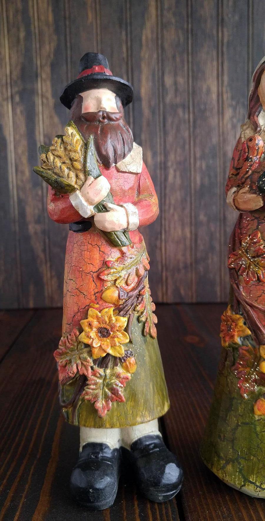 Pilgrim Figurines Thanksgiving Decor Hanna S Handiworks