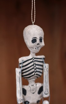Female Recycled Paper Skeleton Ornament Cody Foster